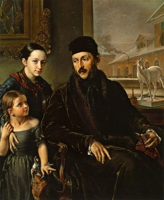 Портрет д п воейкова с дочерью в д