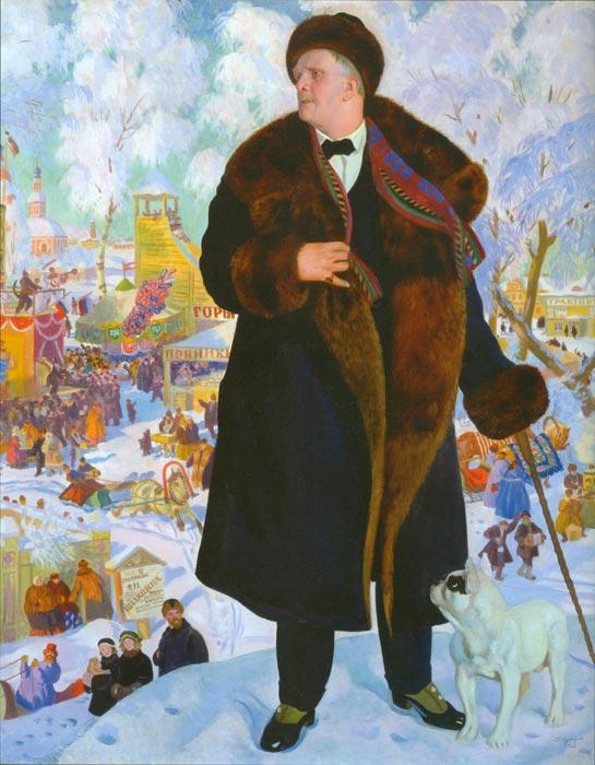 Кустодиев портрет федора шаляпина
