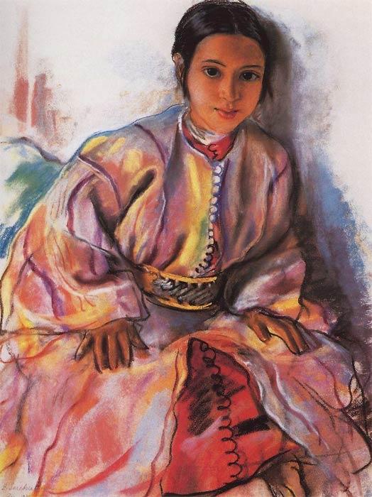 Зинаида Серебрякова, Девочка в розовом
