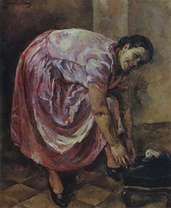 Портрет Натальи Петровны Кончаловской, дочери художника (в розовом платье)
